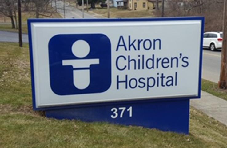 Akron children's hospital sign